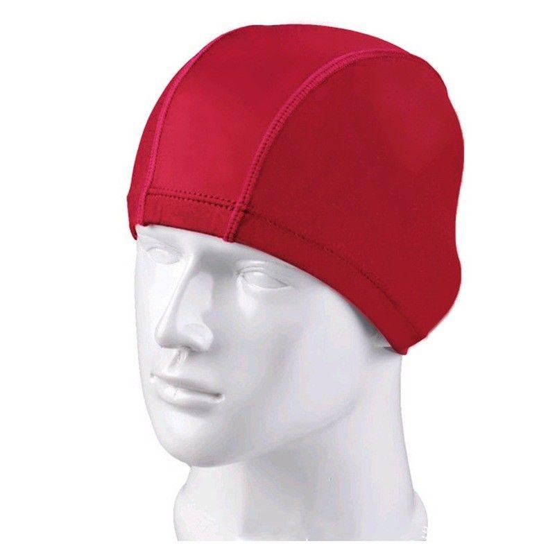 Nuevos niños Gorro de baño de silicona Sombreros de natación a prueba de agua Adultos Niños Gorros Hombres Color puro Gorro de baño