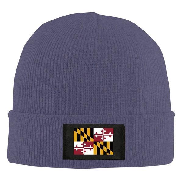 Men Women Flag Of Maryland Knit Beanie Hat Snapback Cap Winter Headwear  Beanies For Men From Wholesome add0f6cb9cc