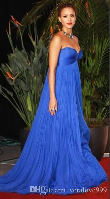 Королевский синий империи талии материнства вечерние платья на заказ плюс размер знаменитости платье для беременных женщин милая длинные партии Пром платья