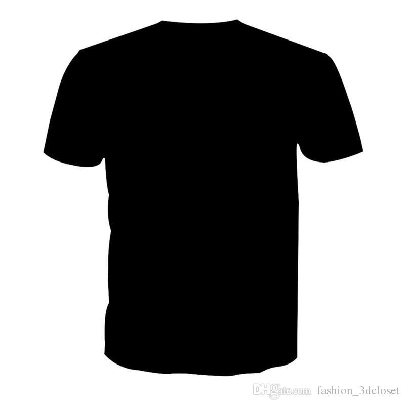 Black T-Shirt Lion Printed Men Gothic Hip Hop Streetwear Tees Plus Size Mens Harajuku Clothing Summer Animal Male 3D Sportswear