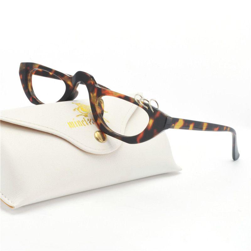 5cbac6ad5dd0 Mincl Small Vintage Rectangle Sunglasses Women Metal Decoration Half ...