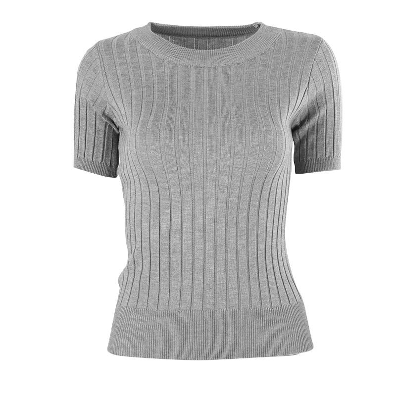 f2c7b3923122 T Shirt Tops Knied Slim Pullover Women Sweater Half Sleeve Thin ...