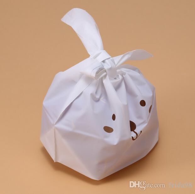 Caja de pastel de bodas Bolsa de regalo de bolsa de plástico lindo Bolsas de caramelo de galleta de conejo Bolsas de caramelo para embalaje de galletas de alimentos de fiesta GA24