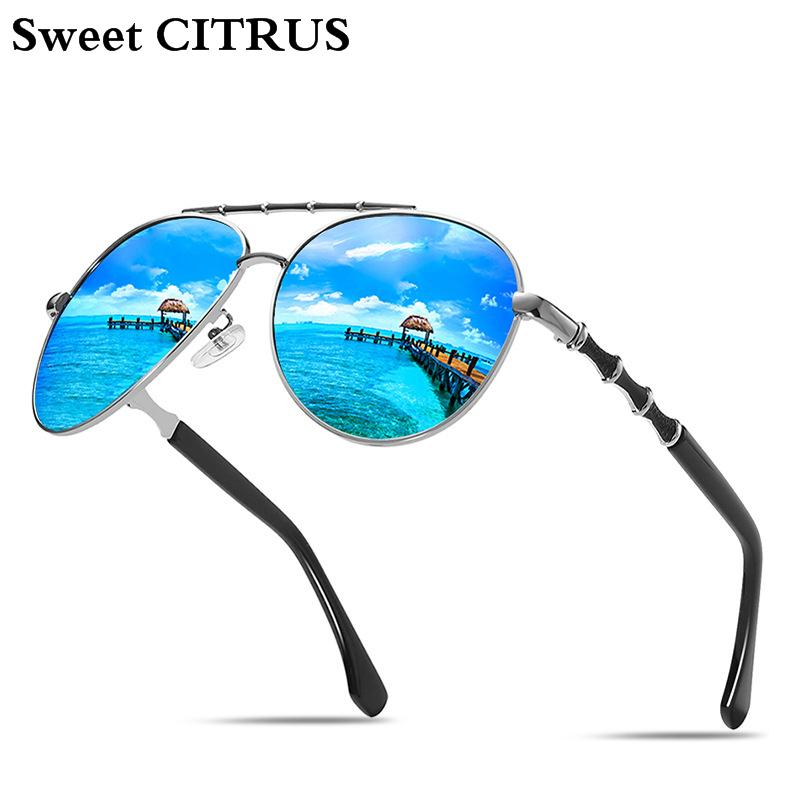 ffbba6361 Compre Doce CITRUS Unisex Marca Óculos De Sol Clássicos Das Mulheres Dos  Homens HD Polarizada UV400 Cor Espelho Óculos De Sol Masculino Feminino  Óculos De ...