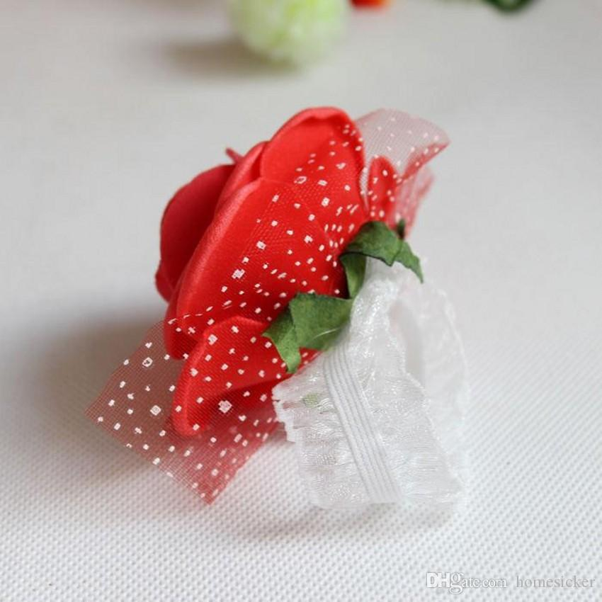 Beautiful Wedding Theme Artificial Bridal Bridesmaids Hand Flowers Wrist Corsage Bouquets Available