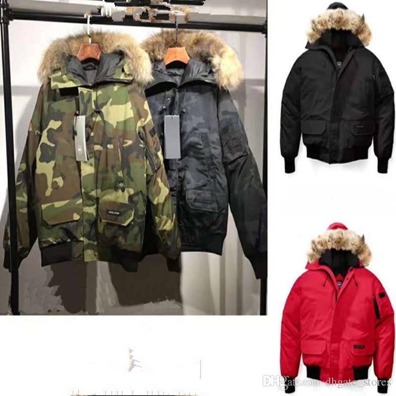 Canada Men Duck Jacket Putin Style Winter Coat Goose Fur