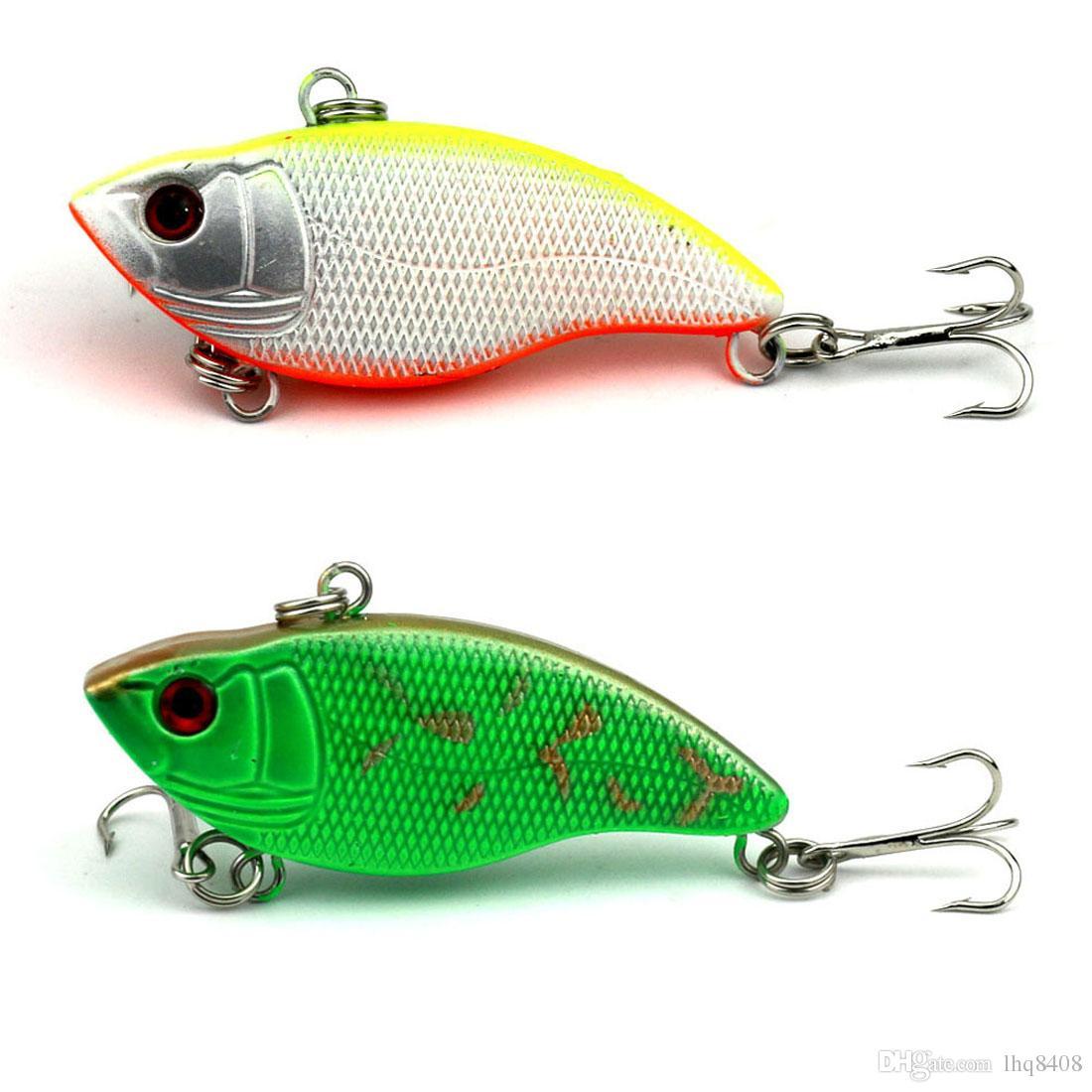 Новый дизайн живопись рыболовные приманки 5.5 см / 2.16 в 9.1 г / 0.35 унций Vib приманки 5 цвет Crankbait рыболовные снасти