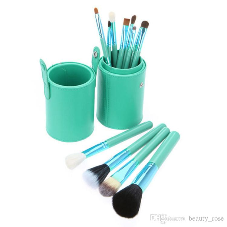 Makeup Brush Set+Cup Holder Professional Makeup Brushes Set Cosmetic Brushes With Cylinder Cup Holder