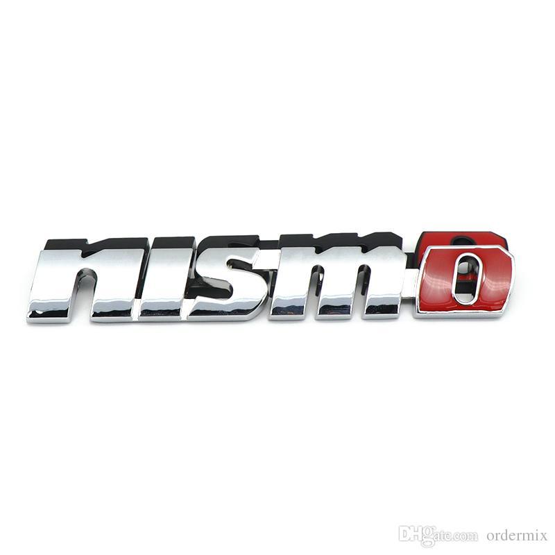 Chrom Nismo Auto Auto Aufkleber Front Grill Abzeichen Emblem Auto Styling Für Nissan Tiida Teana Skyline Juke X-Trail Almera Qashqai