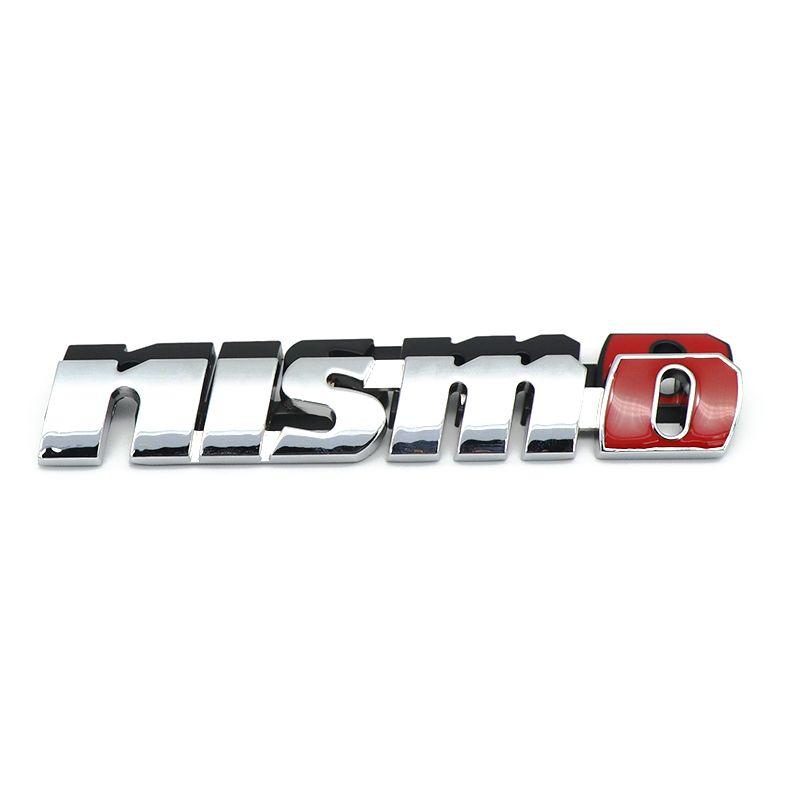 Chrome NISMO Auto Car Stickers Frente Parrilla Insignia Emblema Car Styling para Nissan Tiida Teana Skyline Juke X-trail Almera Qashqai