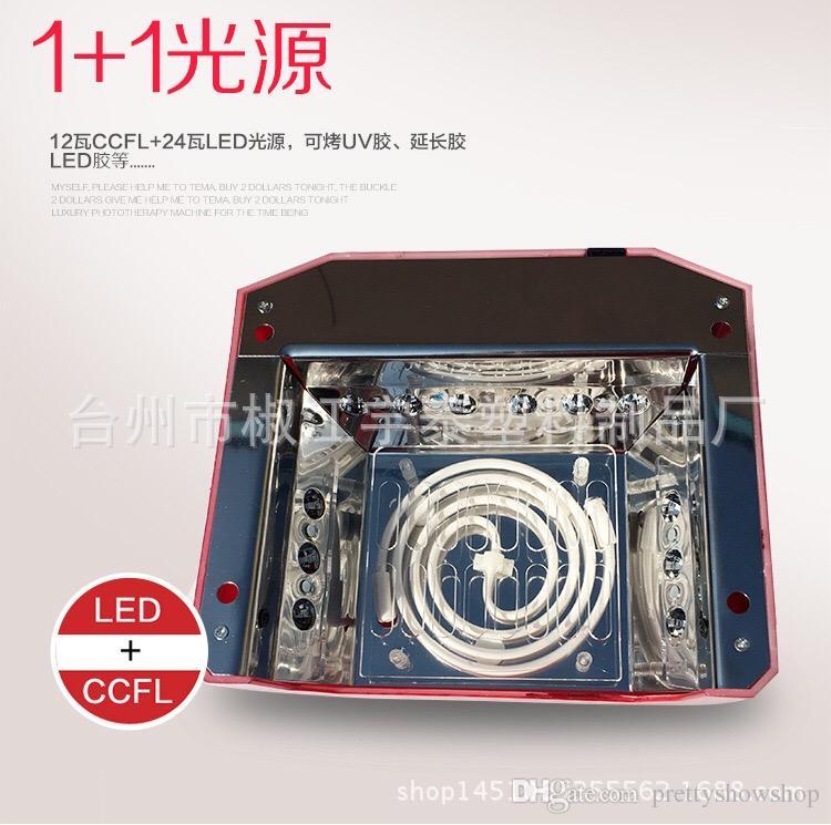 CCFL 36W LED Light Diamond Shaped Best Curing Nail Dryer Nail Art Lamp Care Machine for UV Gel Nail Polish