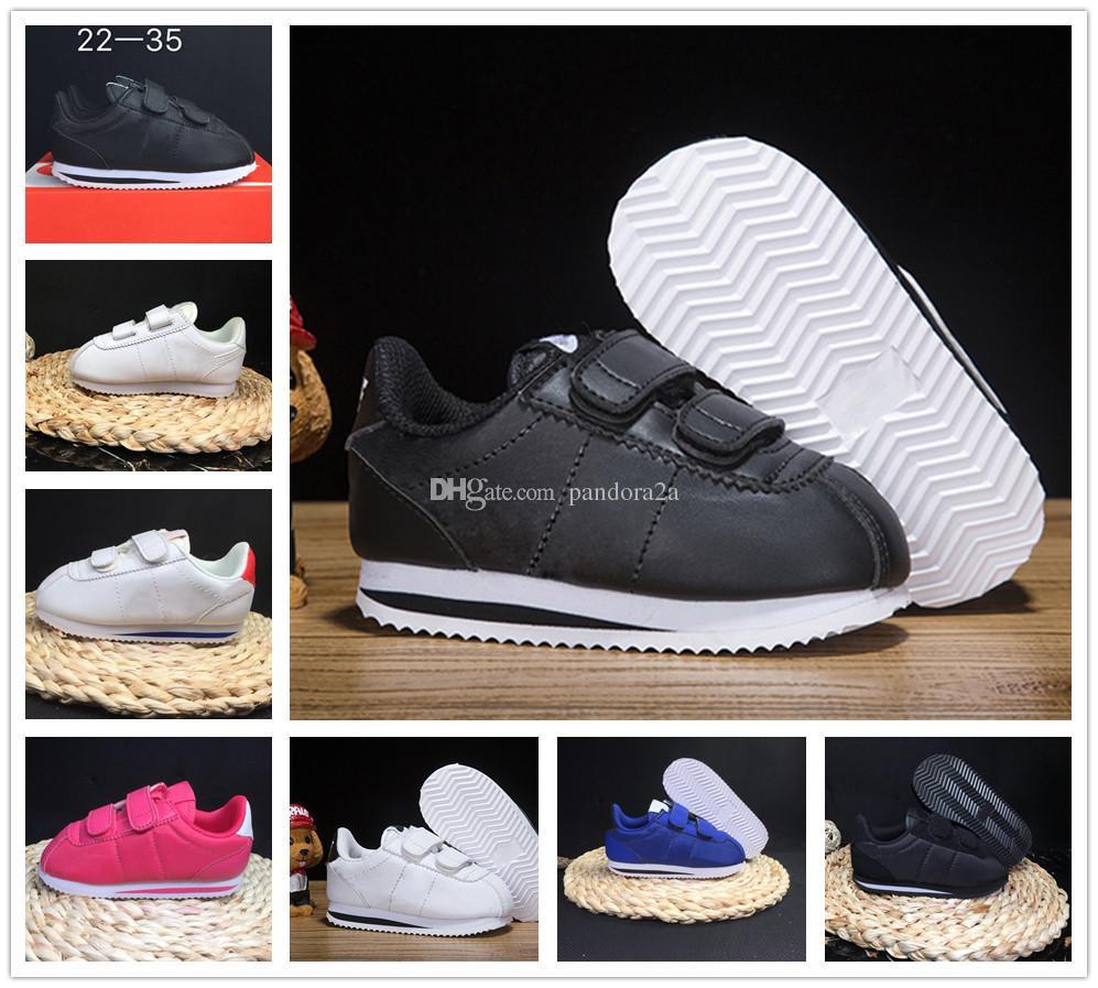 new arrivals 8db65 9caf3 Compre Nike Cortez 2018 Hot Sale Brand Sneakers Niños Zapatos Deportivos Zapatos  Corrientes Para Niños Niños Zapatillas De Deporte Niñas Zapatos Casuales De  ...