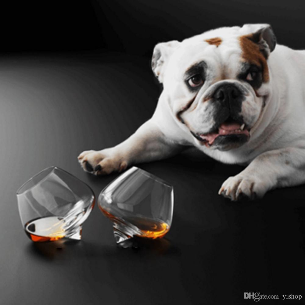 2 adet / takım Kristal Şarap Cam Bardak Sallanan Viski ZARARLARı-Ruhu Içme Takla Şeffaf Gözlük İçecek Kokteyl Bira tutucu 250 ml / 450 ml