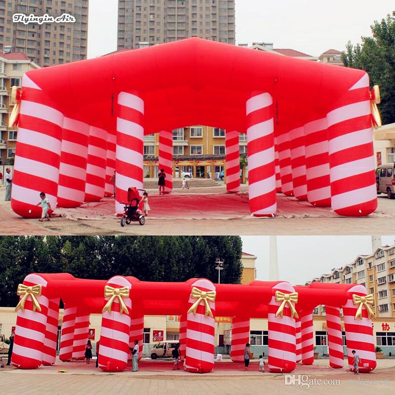 2019 Giant Red Inflatable Marquee Blow Up Frame Tent With Candy