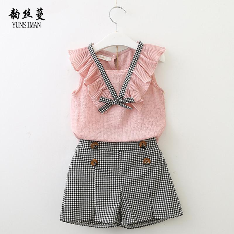 8cade2889c00 2019 Cute Baby Girls Clothes Suit Summer 2018 Size 2 3 4 5 6 7 8 9 Y ...