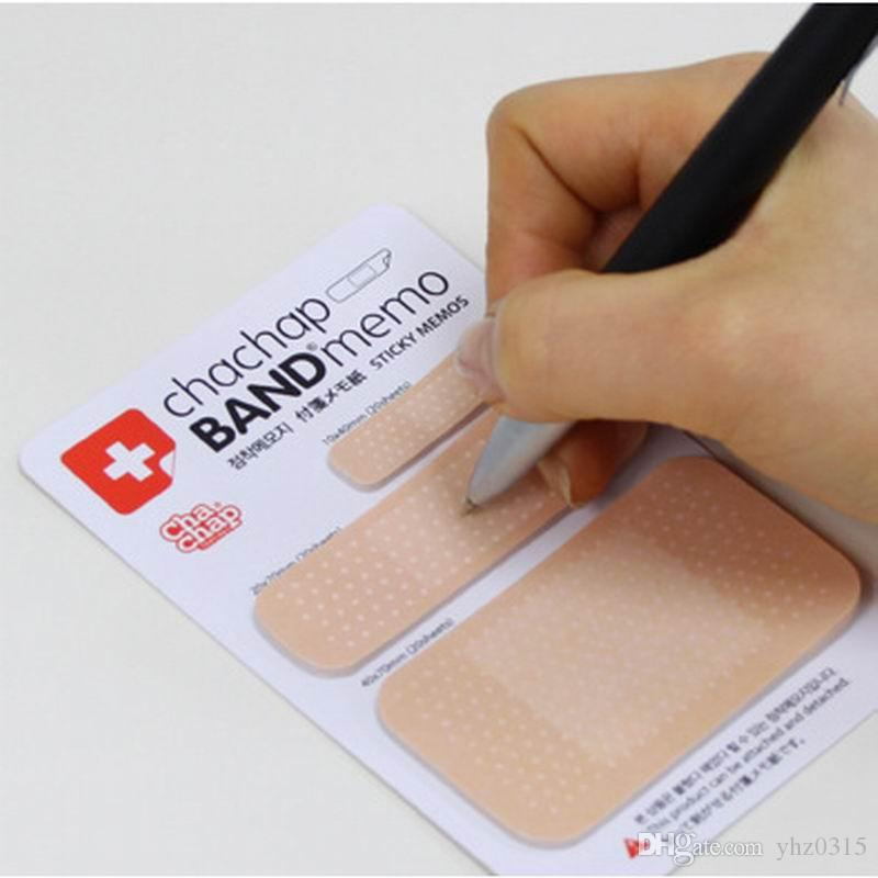 New kawaii memo pad stickers sticky diy notes message scratch posted schedule bandage office school stationery memo pad post it bandage stickers online with