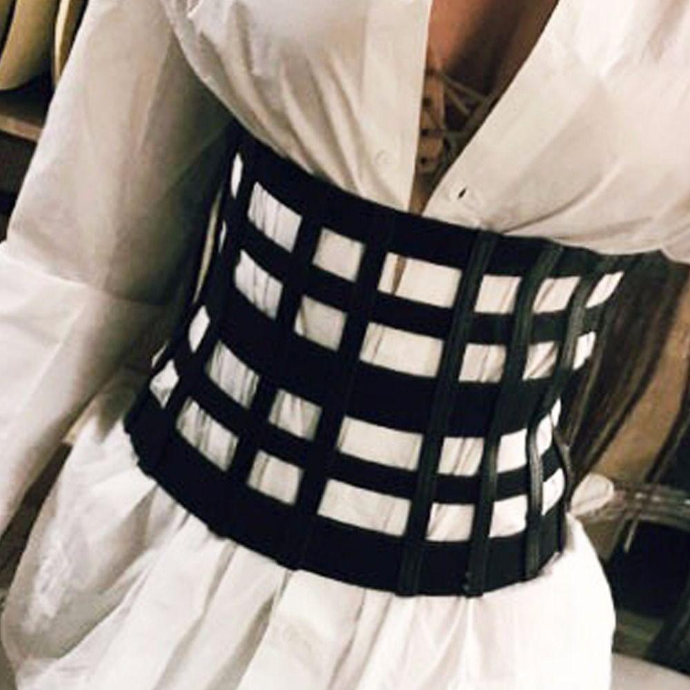 100de8c2ea New Women Ultra Wide Belt Adjustable Slim Corset Body Shaper Black Faux  Leather Retro Design Elastic Strap Belt Slimming Corset Duty Belt Conveyor  Belts ...