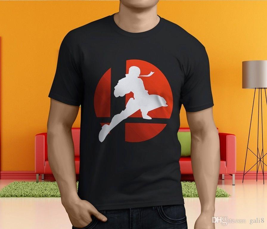 Knee Super Camiseta Nuevo Captain Bros Compre Negra Falcon Smash The X8ExwqR