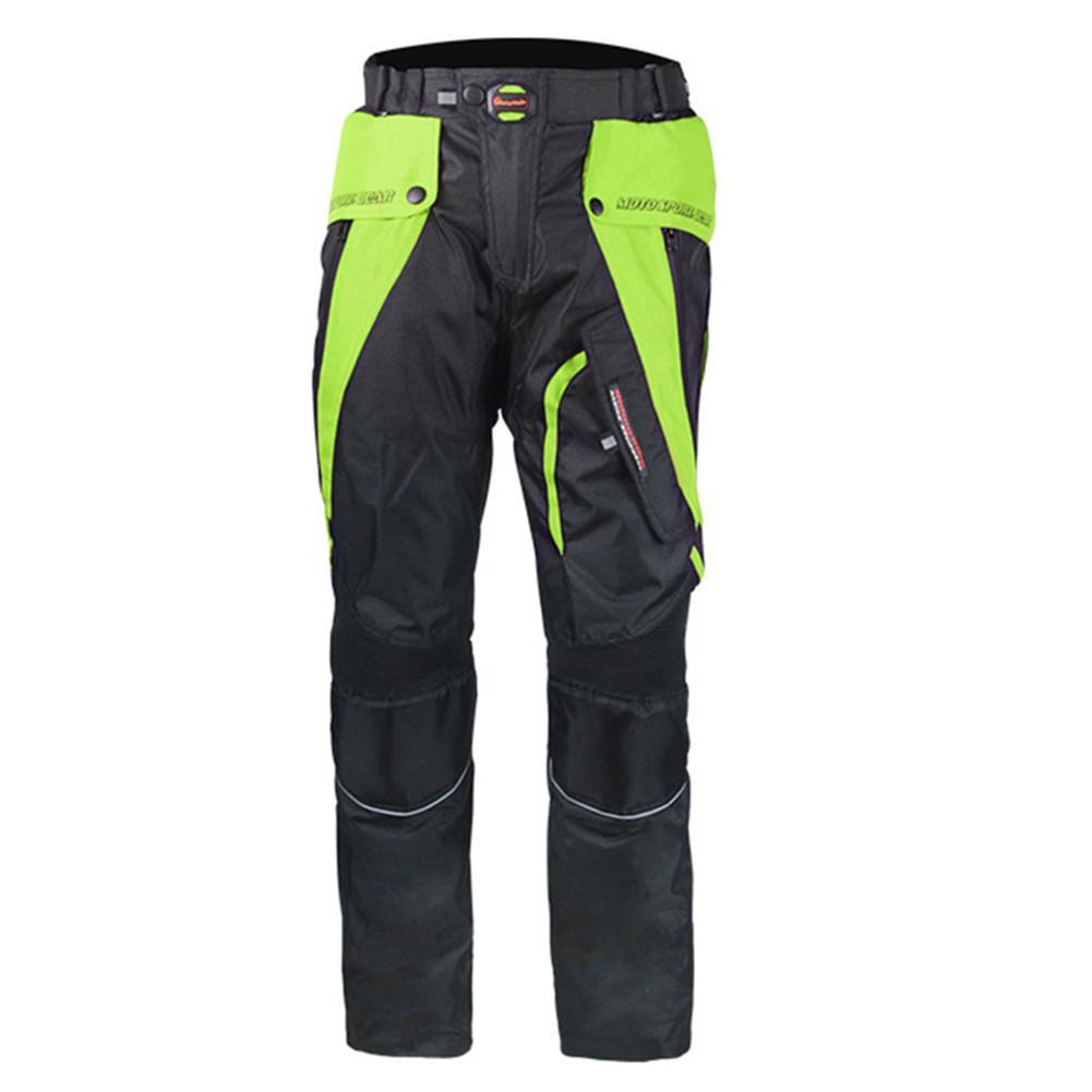 cef481f6d9 Compre Calças Da Motocicleta Motocicleta Motocross Calças Pantalon Moto  Calças Dos Homens Hp0928 Corrida Com Joelhos De Proteção De Miaotang