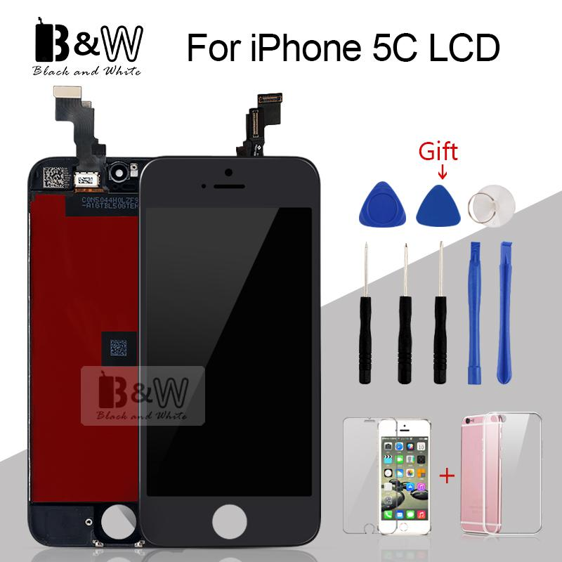 1Pcs 100% Test No Dead pixel LCD For iPhone 5C 5S LCD Display with Touch  Screen Digitizer Assembly Black Free Ship Great Package