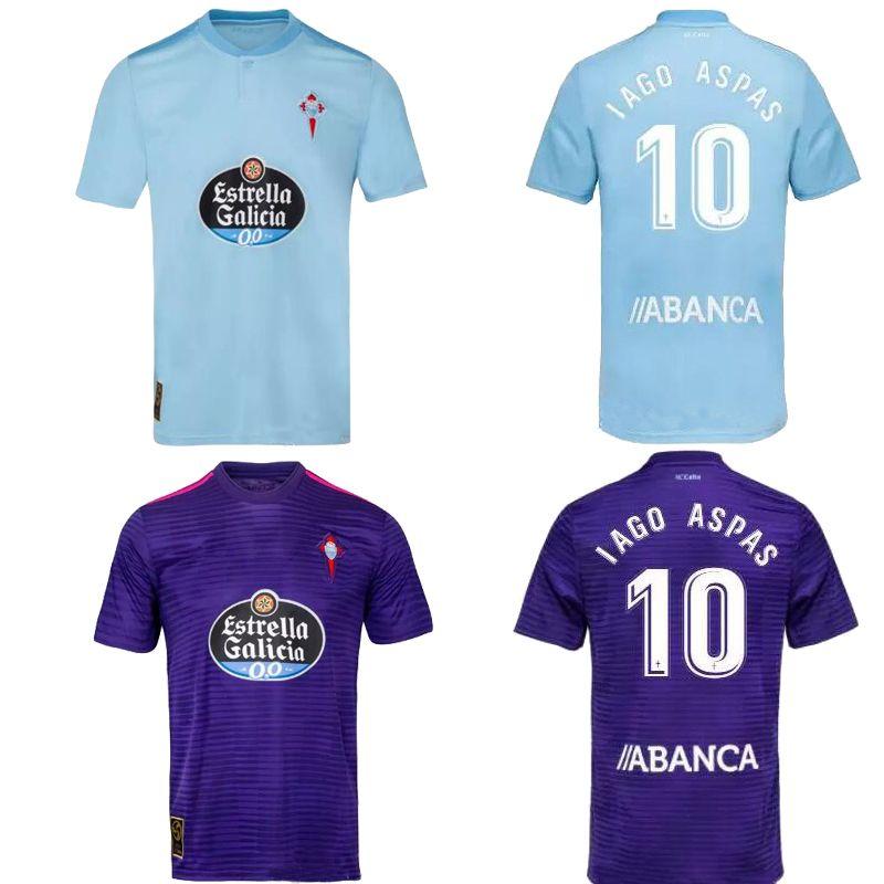 77d2558fa 2019 Celta Camiseta De Fútbol De Calidad Tailandesa 18 19 IAGO ASPAS Casa  Azul De Distancia Púrpura GUIDETTI M.GOMEZ RADOJA WASS NOLITO Camiseta De  Fútbol ...