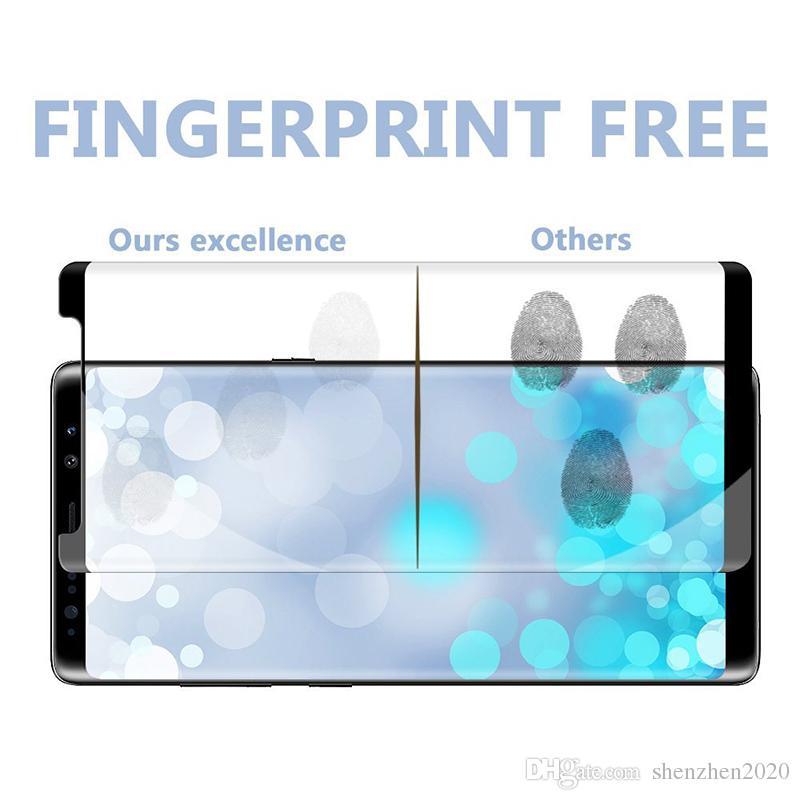 Para Samsung Galaxy S9 Note 8 Note8 S8 Plus S7 Edge Caso amigable 3d Curvado caja de cristal templado Versión Teléfono Protector
