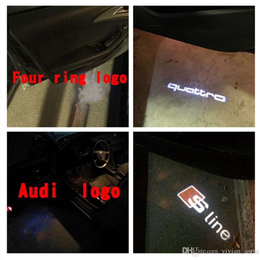 2x LED Car Door Welcome Light Laser Projector Sline Logo For Audi A1 A3 A5 A6 A8 A4 B6 B8 C5 80 A7 Q3 Q5 Q7 TT R8 sline