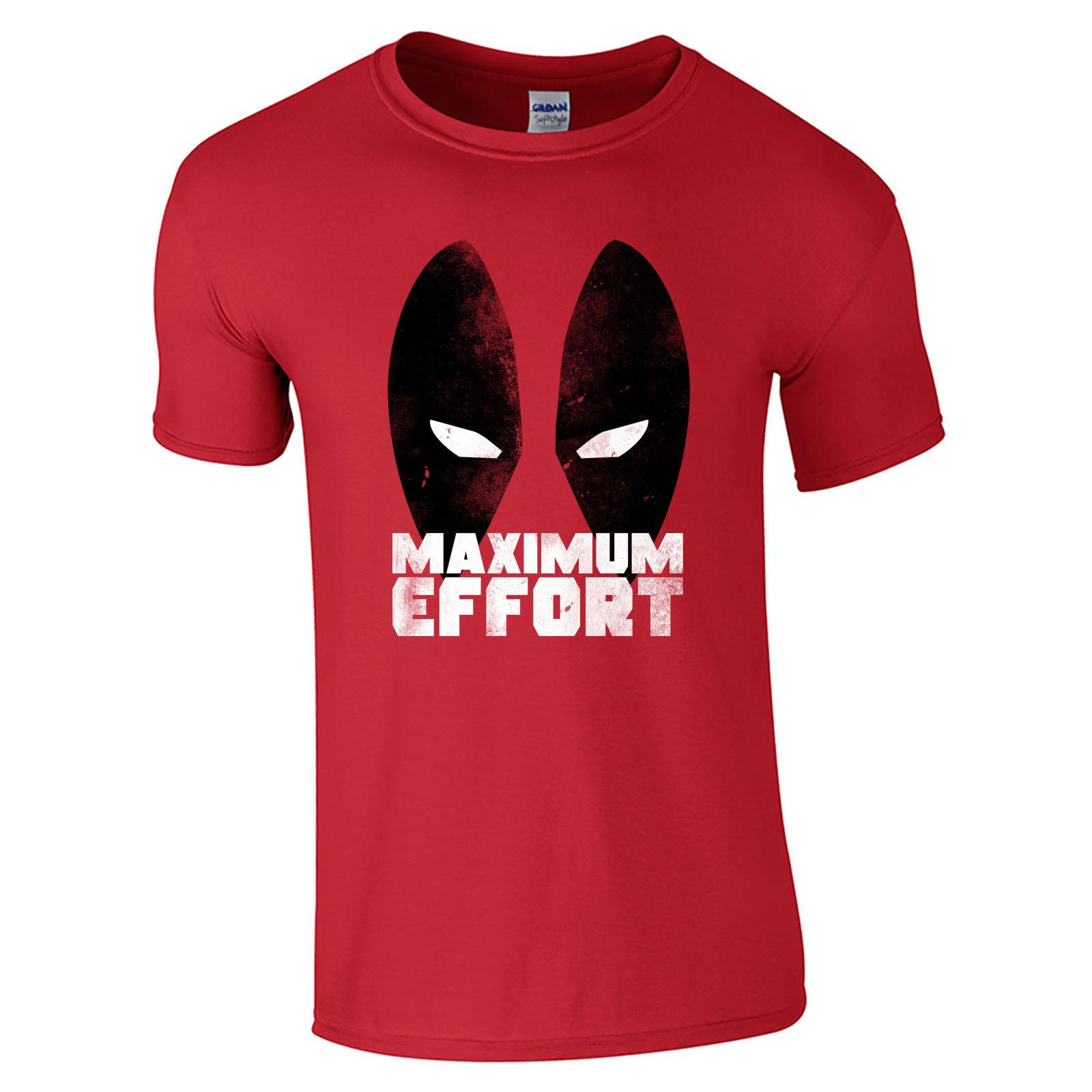 8d9eb028b Deadpool Maximum Effort T Shirt Comic Eyes Superhero Funny Movie Mens Gift  Top T Sirt T Shirt Sites From Uniquedesigntee, $11.01| DHgate.Com