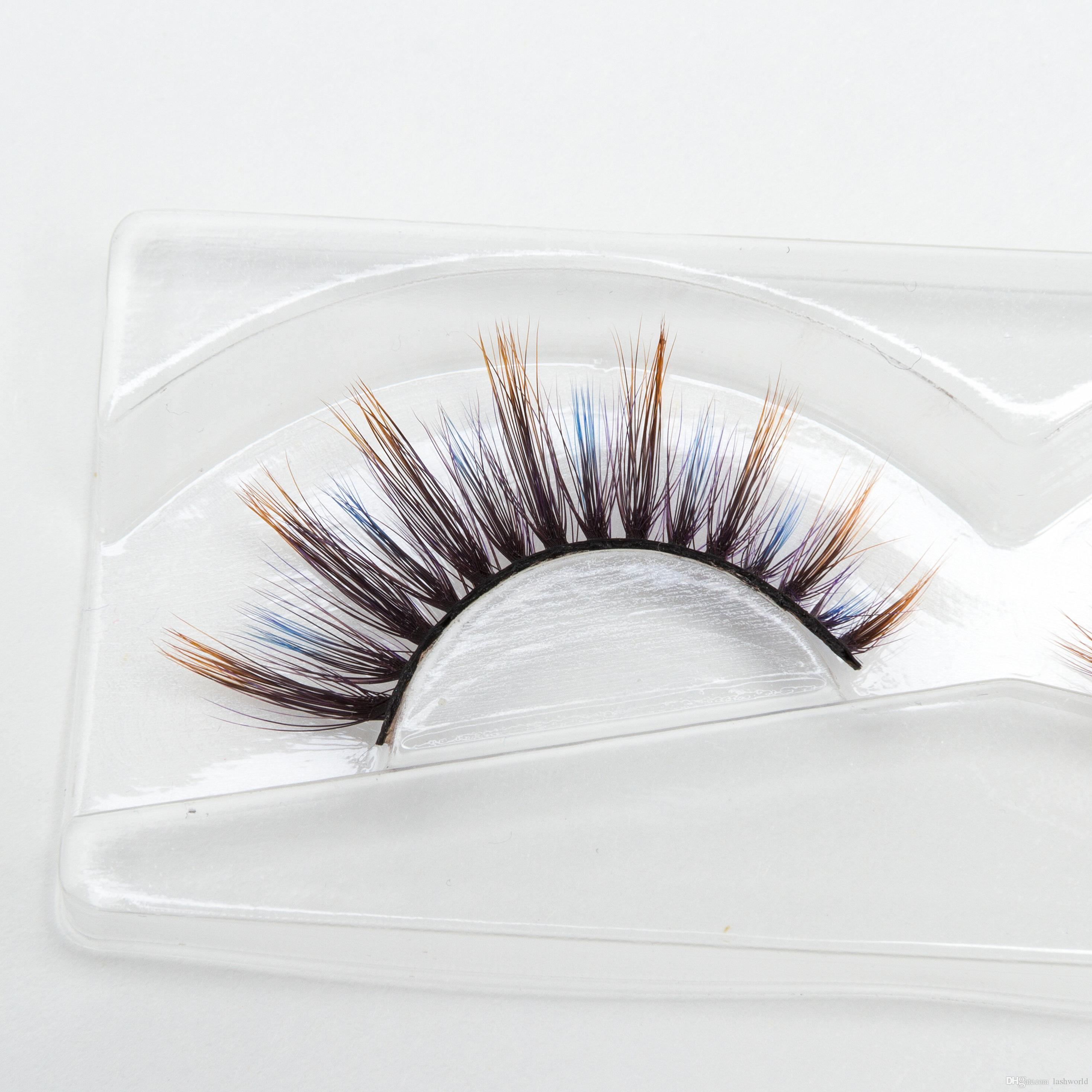 Seashine For Sale Faux Mink Eyelashes 3d Silk 3d Colorful Silk