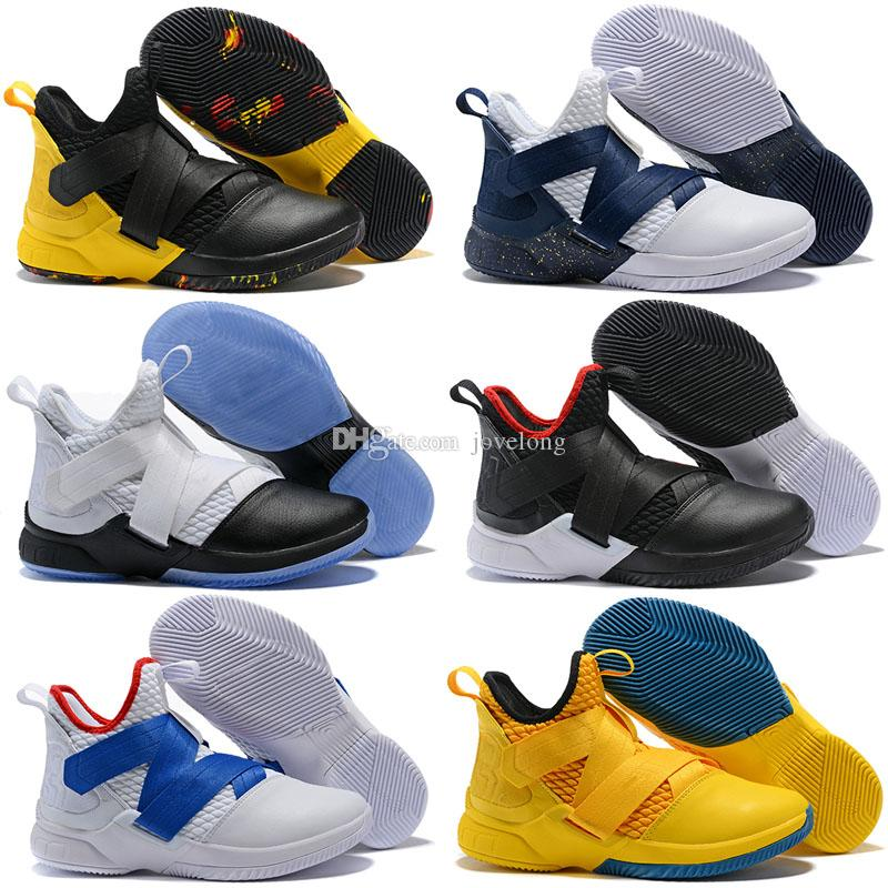 b6890c80019f 2018 New Los Angeles Orange Purple Lebron Soldier XII 12 EP Mens Basketball  Shoes For Cheap High Quality Soldiers 12s Size 7 12. Black Tennis Shoes For  Kids ...