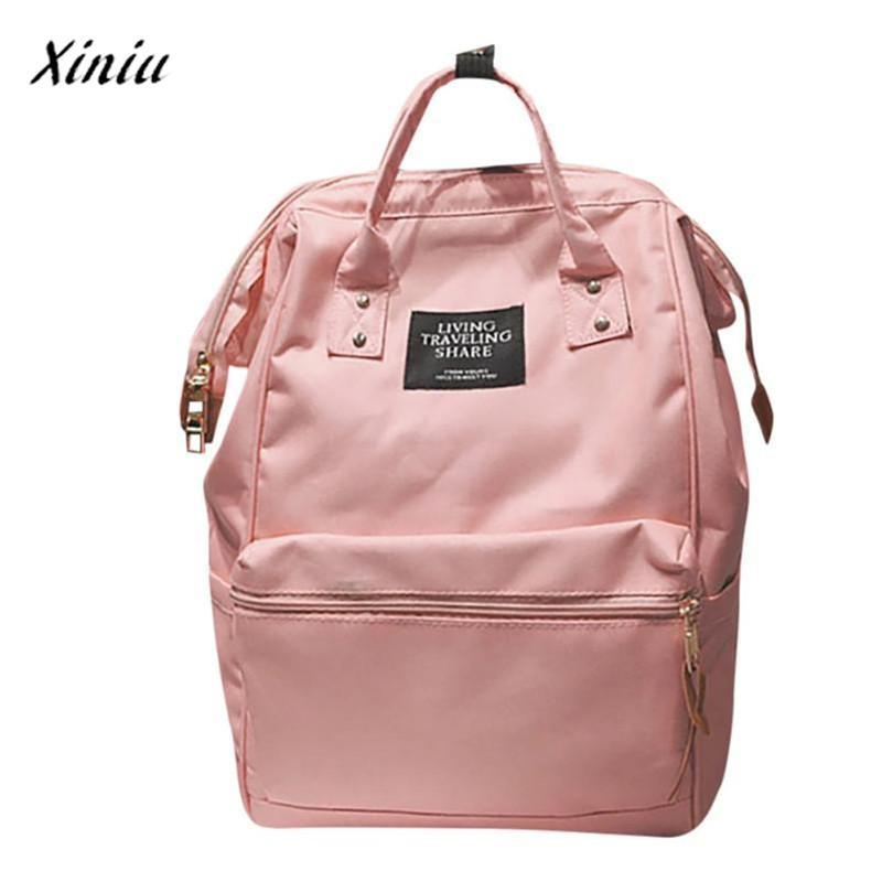 910859d1dec Xiniu Women Bag Backpacks Bog Capacity Solid Backpack Travel School Bag  Double Shoulder Zipper Mommy Neccesary Daypack Swissgear Backpack From  Annawawa, ...