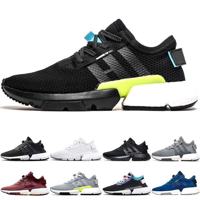 timeless design a19be 00563 Adidas Originals P.O.D S3.1 Boost Diseñador P.O.D S3.1 System Hombre Mujer  Deporte Zapatillas De Running Triple Negro Blanco Azul Pod S3.1 Tenis  Zapatillas ...