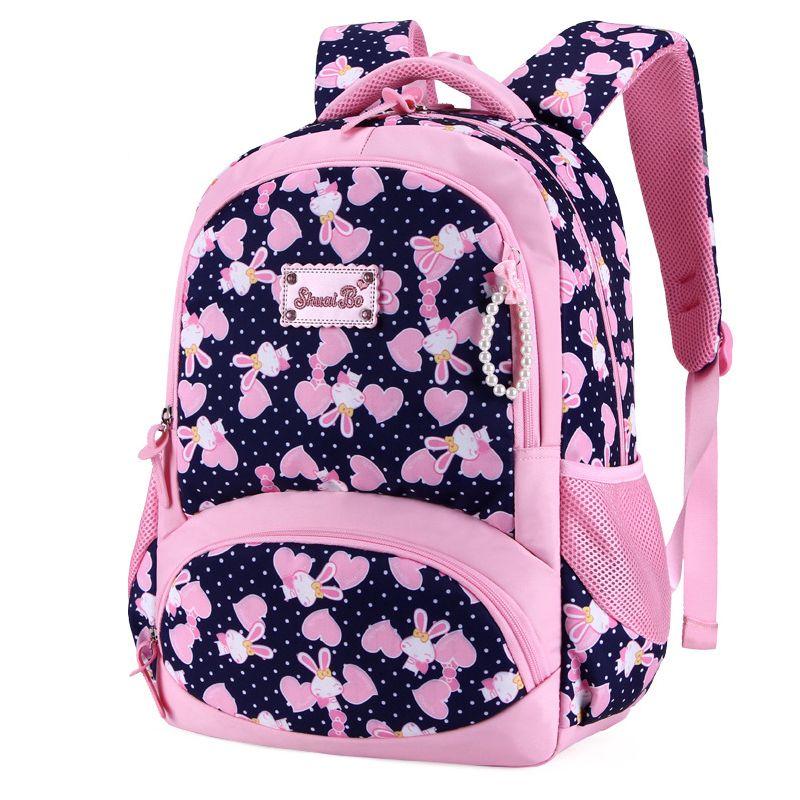 d563b6ce8b0a New Arrivals School Backpack For Girls Casual Cartoon Primary School Grade  1 4 Children Student Backpack Kids Knapsack Mochila Y18100804 Cute Heavy  Duty ...