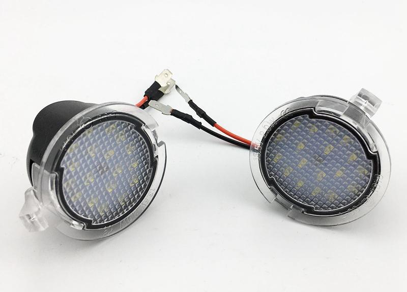 For Ford LED Side Mirror Puddle Light Lamp White 18LED For Explorer Mondeo Edge Taurusp F150 Pick Up Heritage