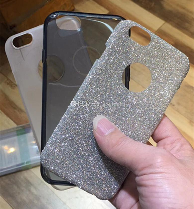 New Arrival Glitter Bling Metal Button TPU PC 3in1 Case for iPhone X 8 7 6S Plus SE Samsung S8 Plus Note 8