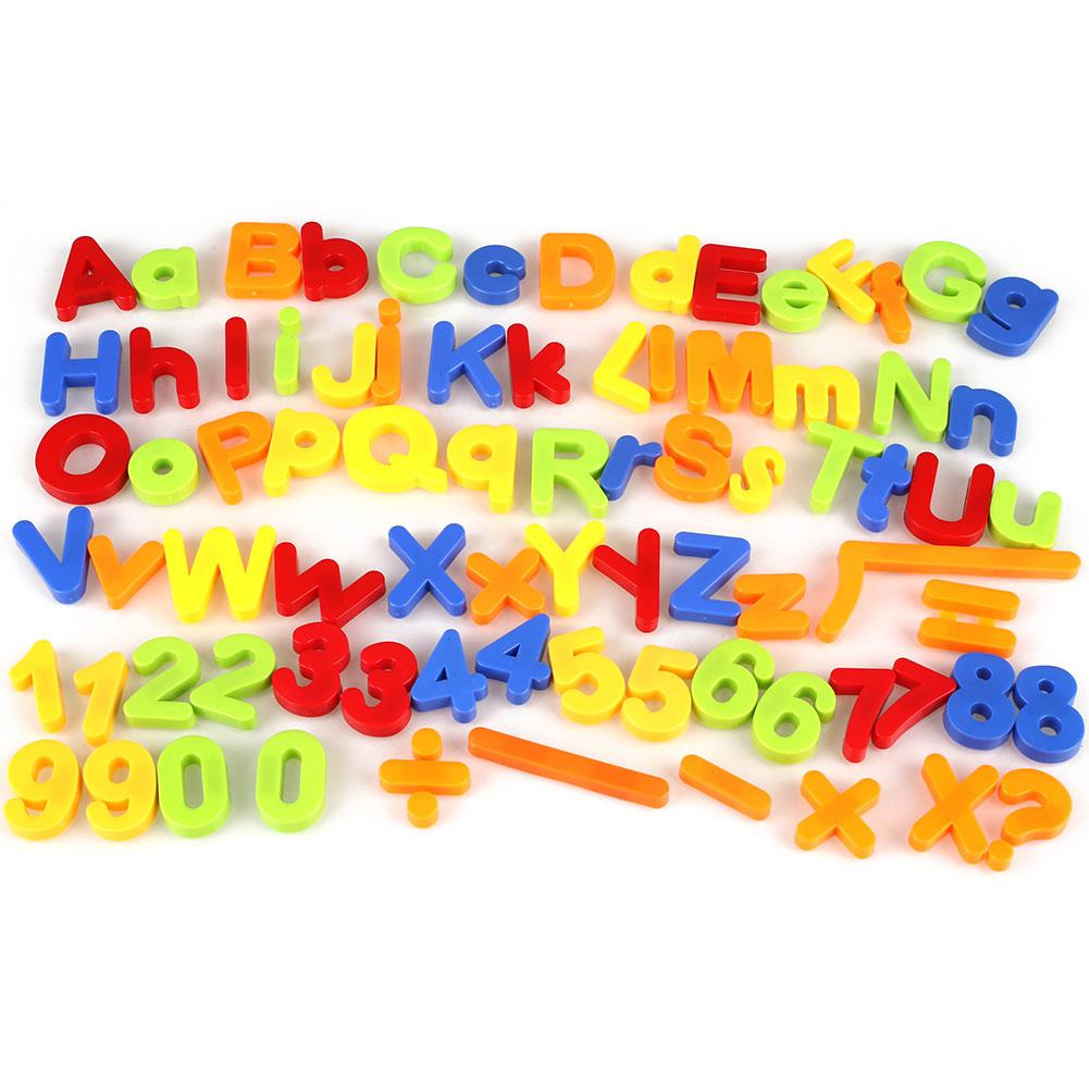 Kids Magnetic Alphabet Letter Maths Number Symbol Fridge Magnets Gift 80Pcs