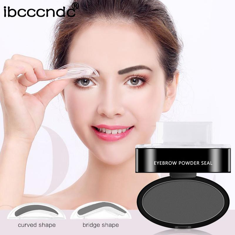 Eyebrow Powder Seal With Shape Shadow Set Waterproof Stamp Brow Palette Stamper Semi Permanent Eyebrows Best Pencil From