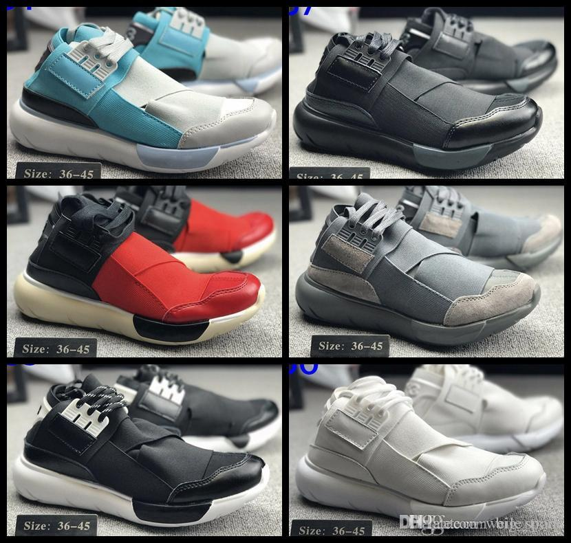 97df3741a 2018 New Y 3 QASA HIGH Men   Women Running Shoes Fashion Street Culture  Luxury Boots Designer Y3 Outdoor Sport Trainers Sneakers Chausseures Running  Shoes ...