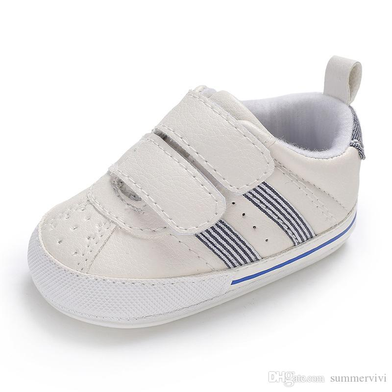 Infant kids sneakers fisrt walkers baby boys stripes hollow breathabler casual shoes kids girls non-slip comfortable toddler shoes Y4390