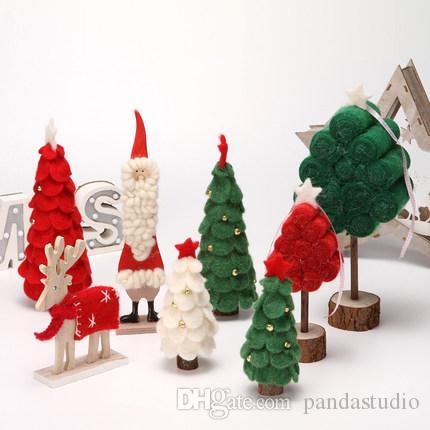 dfaab445d79 Compre Decoraciones De Madera Creativas De Navidad Fieltro Juguetes  Campanas Árbol De Navidad Artesanías En Casa Regalos Adornos De Escritorio  A  16.09 Del ...