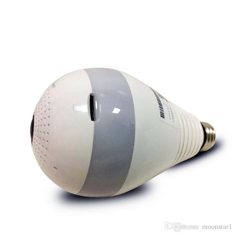 360 grados cámara panorámica de ojo de pez LED bombilla 1080P HD Wifi CCTV Inicio vigilancia de seguridad