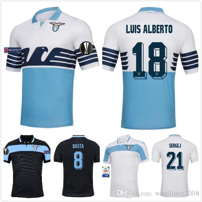 9a09a2fbf3 Compre 2018 New Lazio Home Camisolas De Futebol 18 19 Away F.ANDERSON LUCAS  KISHNA BASTA D JORD JEVIC KEITA IMMOBILE LULIC Camisas De Futebol Uniformes  De ...