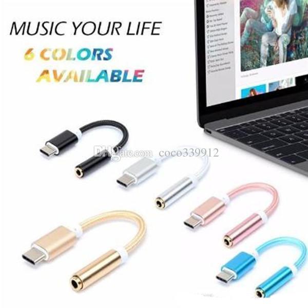 USB3.1 Tipo C a 3,5 Cavo cuffie Adattatore Tipo C da 3,5 mm AUX audio Jack femmina Samsung S8 LG