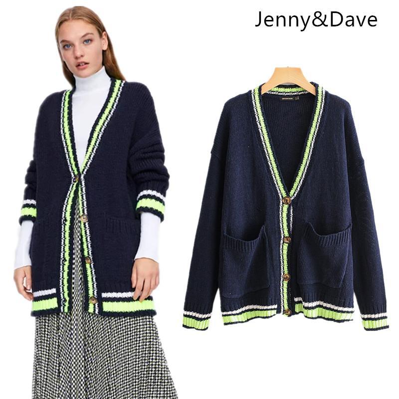 f25709ece5 Compre JennyDave 2018 Estilo Inglaterra Suéter Femenino BTS Botón Cardigans  Con Cuello En V Otoño E Invierno Suéter De Mujer 1022 A  37.74 Del Douban  ...
