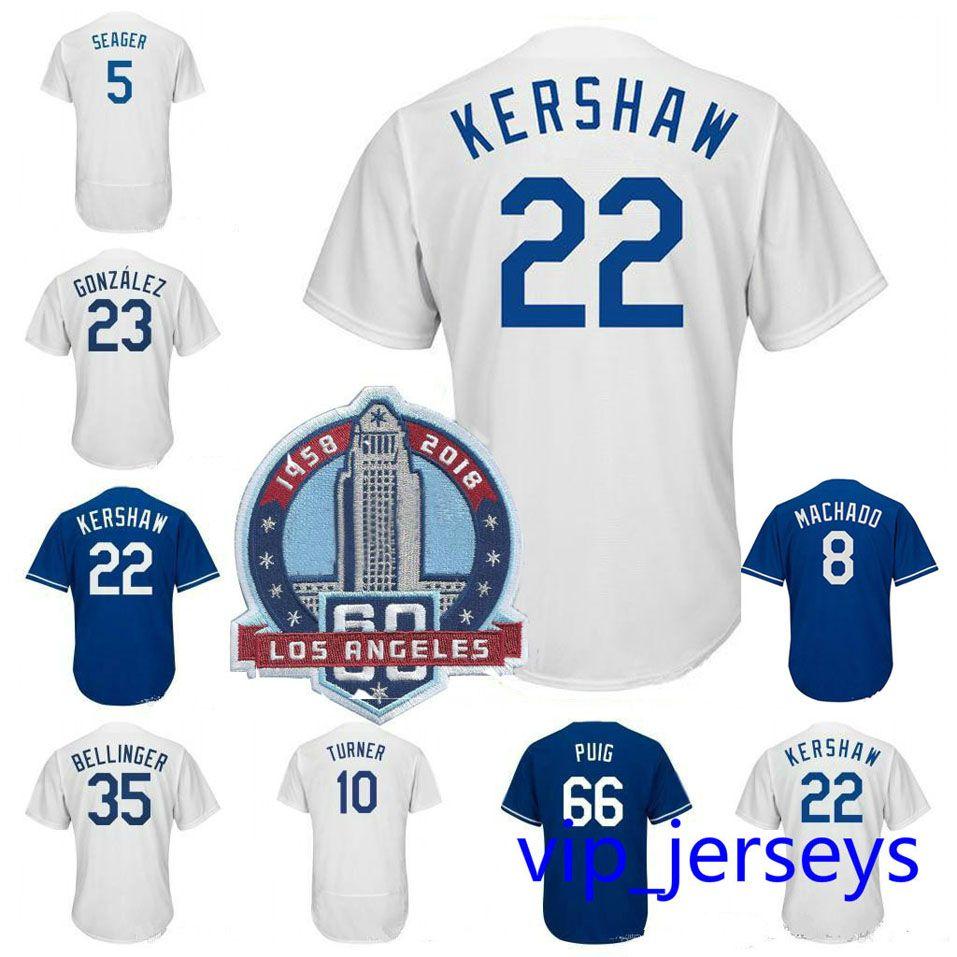 Men Los Angeles Dodgers Jerseys Manny Machad 22 Clayton Kershaw Cody ... f8aaa213ec2