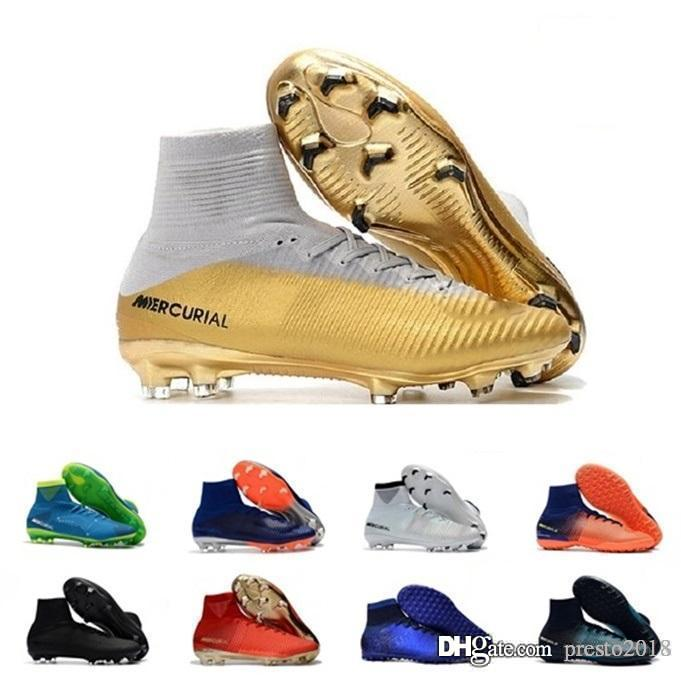 241fc3e92f1a 2018 Tiempo VII Legend FG 7 CR7 Soccer Boots Men Six Choice Vivid Colors  Fashion Top Quality Football Shoes Size In 39-45