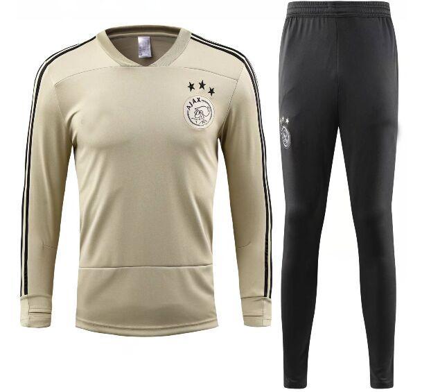fantastic savings official images designer fashion Survetement football 2017 2018 2019 Camisetas voetbal tenues trainingspak  Beige yellow city Ajax long sleeve soccer tracksuits