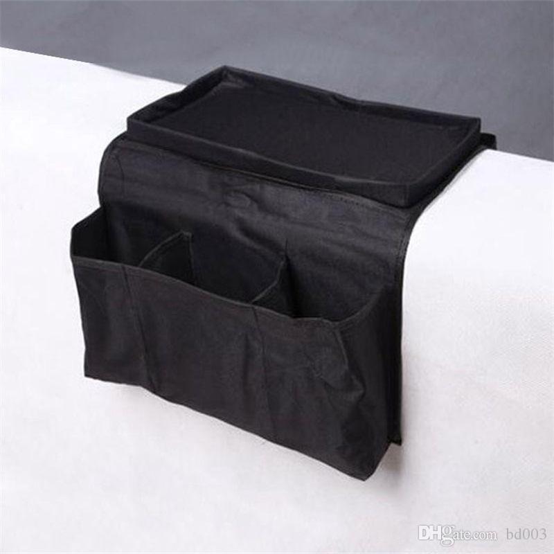 Arm Rest Organizer Diy Side Of The Sofa Hanging Storage Bag Multi Storey Lattice Novel Oxford Portable 5 4zb Cc