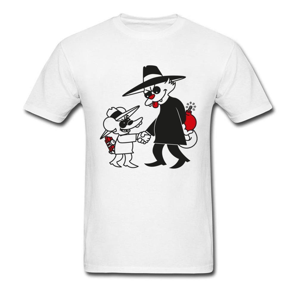 Compre Gato Vs Ratón Camiseta Divertida Hombres Camiseta Bomba Camiseta  Blanca Ropa De Tela De Algodón Camisetas Cómicas Camisetas De Dibujos  Animados Tops ... 676f93b5246