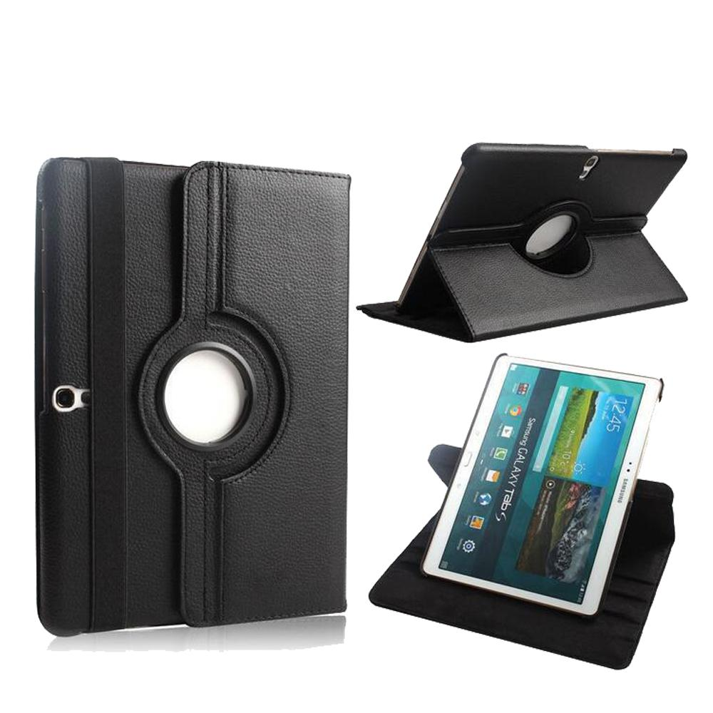 360 Rotating PU leather Case Cover For Samsung Galaxy Tab S 10.5 inch T800 T805 Tablet Case Smart Stand + Pen